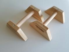 Paralletes de madera 25x22x11 cm, Código 248-mangos