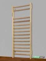 Espalier suedois Strassbourg , 200x85 cm,12 barreaux, Ref. 253