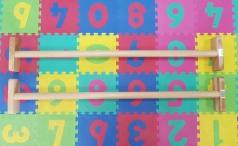 Barres parallèles en hêtre, 150 cm de longueur, code 248 paralettes longeur