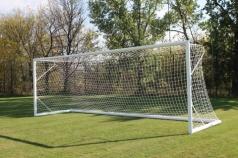 Futbalové bránky 7,32x2,44 m, s oválnym hliníkovým profilom, prenosné, Kód 405