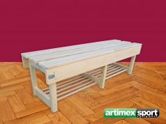 Umkleidebank aus Holz,2 m.qartikelnr.243 Holz
