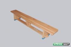 Gymnastická lavička s drevenými nohami, Bukové Drevo, 2m, kód 202-F