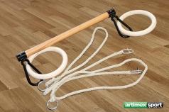 Trapezstange mit Ringe und seile, Artikelnr. 1163-Stange
