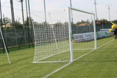 Football goals in ground sockets, 7,32x2.44 m ,code 404