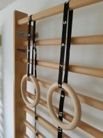 Ξύλινα δαχτυλίδια γυμναστικής με ιμάντες, κωδικός 1163-ιμάντες