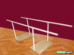 Gehbarren Standard, Holmenlänge 2.5 m , aus Buchenholz, Artikelnr. 299-M