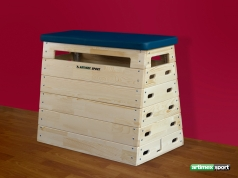 Gymnastic Vaulting Box  with carriage base,code 219
