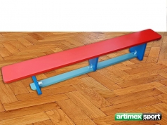 Wooden gymnastic bench, 2m, 3 colors, code 202-B