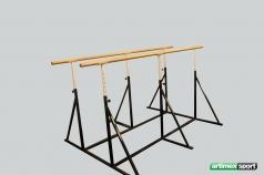 Parallele mobili per CrossFit, 250 cm,codice 1801