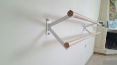 Ballettstangenhalter aus Stahl ,doppelt, Artikelnr. 113-Wand
