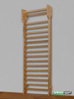 Ribbe, 1-fag med udhæng, 240x90 cm, 216-F
