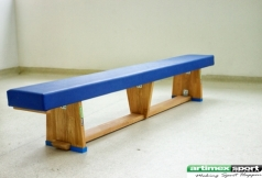 Wooden gymnastics bench with foam, 2m, code 202-Oak
