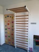 Stall Bar Metall/Wood, 2.4x0.9 m, 20 Rungs, Spartan Model, code 277/white
