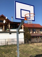 Basketball Anlage verzinkt, 100x100 mm, mit Bodenhülsen, Artikelnr 105-B