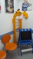 Egyszakaszú bordásfal, színes, zsiráf, gyerekeknek, 1.70x0.6 m, 250-Giraffe