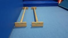 Barres parallèles en hêtre, 150 cm de longueur, code 248-paralettes-longeur