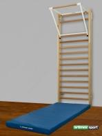 Sprossenwand 2,3 m, Klimmzugbügel, Gymnastikmatte ,Artikelnr.  275