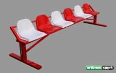 Spieler- und Betreuerkabine, 3x0.42 m,artikelnr 207-6