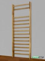 Espaldera gimnasia roble, 14 traversos,230x85 cm,codigo 221- E