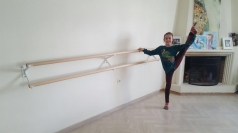 Doubel Ballet barre with wall holder, 2.5 m, cod 113