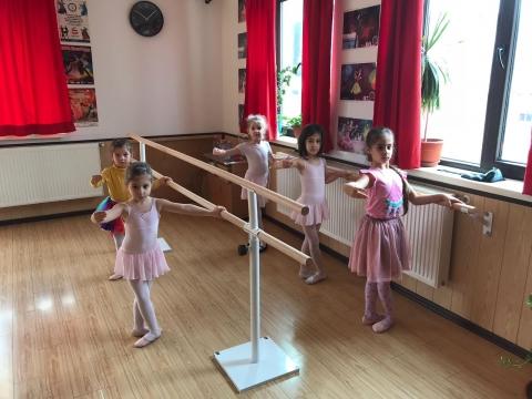 2M Ballettstange Freistehende Stretchleiter Doppelstange Weiß Tanz Training